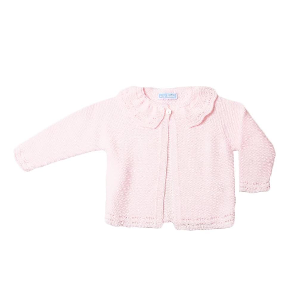 Licht roze basic vestje met kraag van Mac ilusion