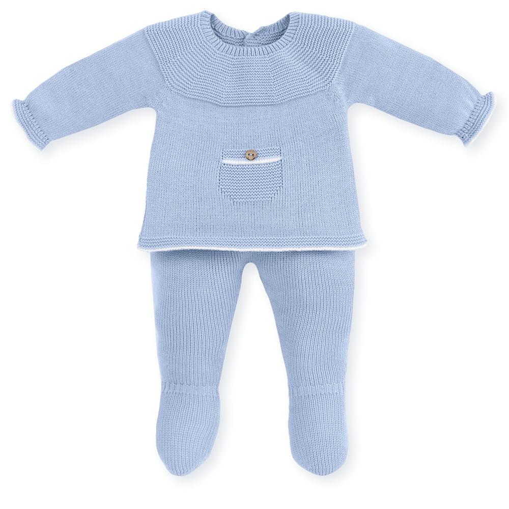Mac ilusion blauw baby setje