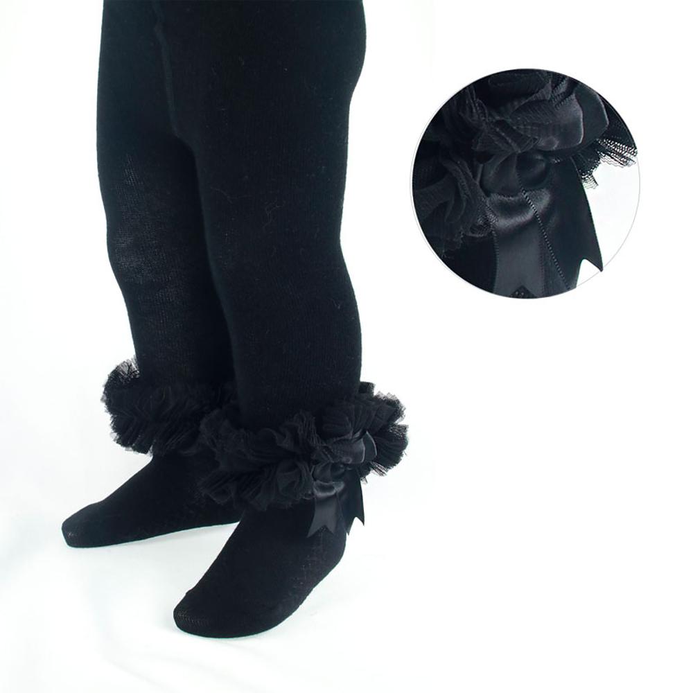 Zwarte maillot met tule