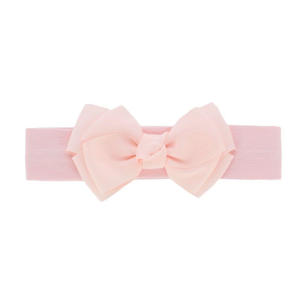 Licht roze haarband met strik