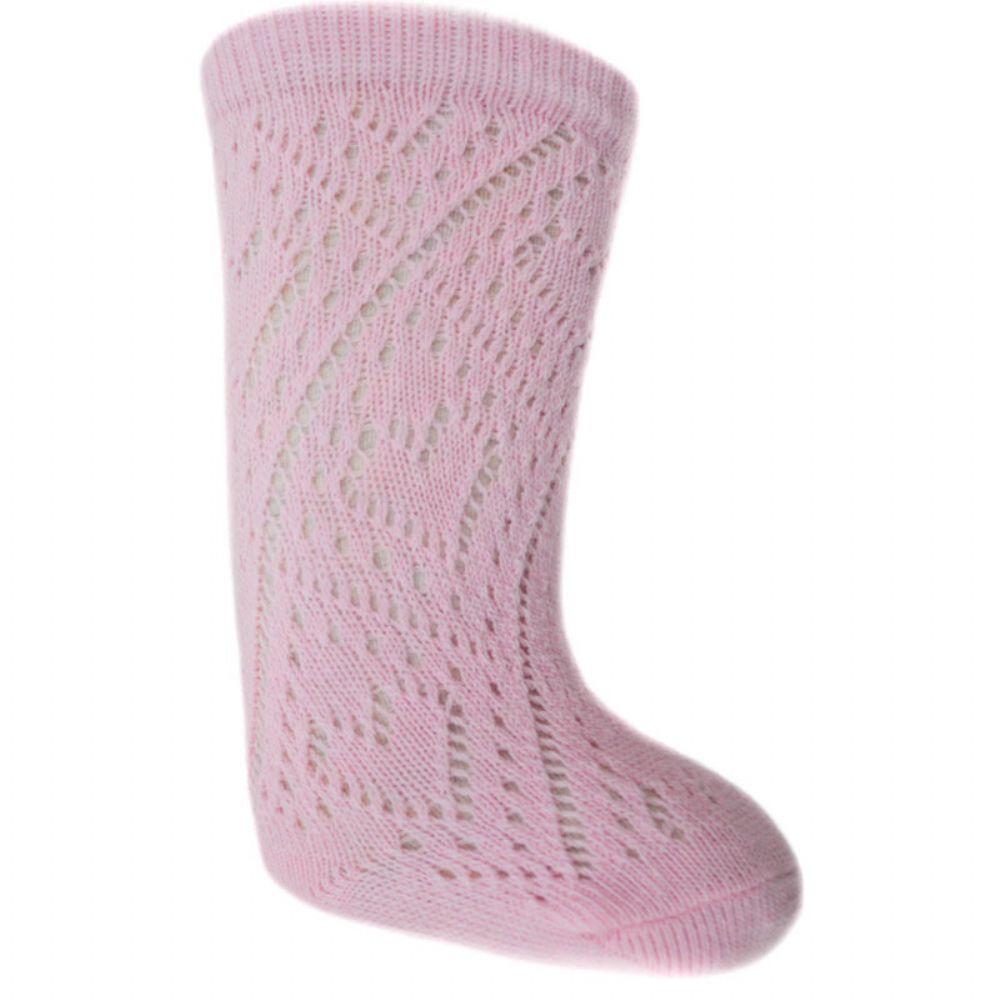 Roze gehaakte kniekousje