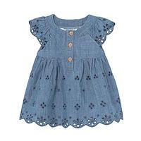 Blauw baby jurkje van Mayoral