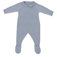 Dr.kid blauw gebreid babypakje