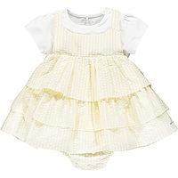 Geel gestreept jurkje van Little A