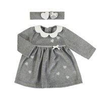 Grijs velours baby jurkje van Mayoral