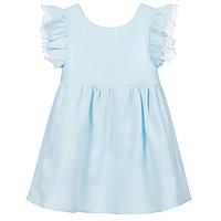 Licht blauw meisjes jurk van Babidu