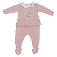 Oud roze babypakje met konijntje van Dr.kid