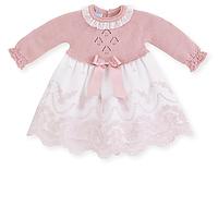 Oud roze gebreid baby jurkje van Mac ilusion