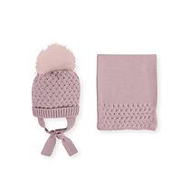 Oud roze muts en sjaal van Mac ilusion