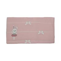 Roze gebreid deken van Dr.kid met strikken