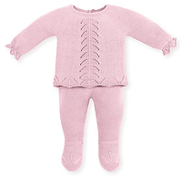 Roze gebreid babysetje van Mac ilusion