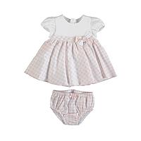 Roze geruit baby jurkje van Mayoral