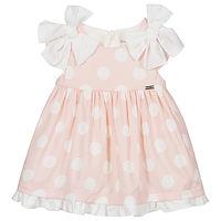 Roze stippen baby jurkje van Mayoral