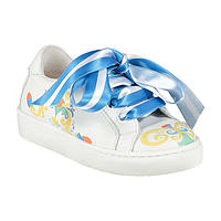 Witte sneakers met print van Adee