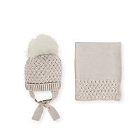 Zandkleurige muts en sjaal van Mac ilusion