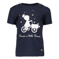 Donkerblauw t-shirt van Le chic