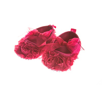 Fuchsia schoentjes met roosjes
