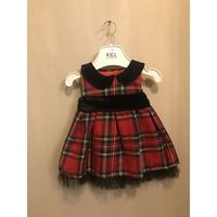 Klassiek rood geruite jurk
